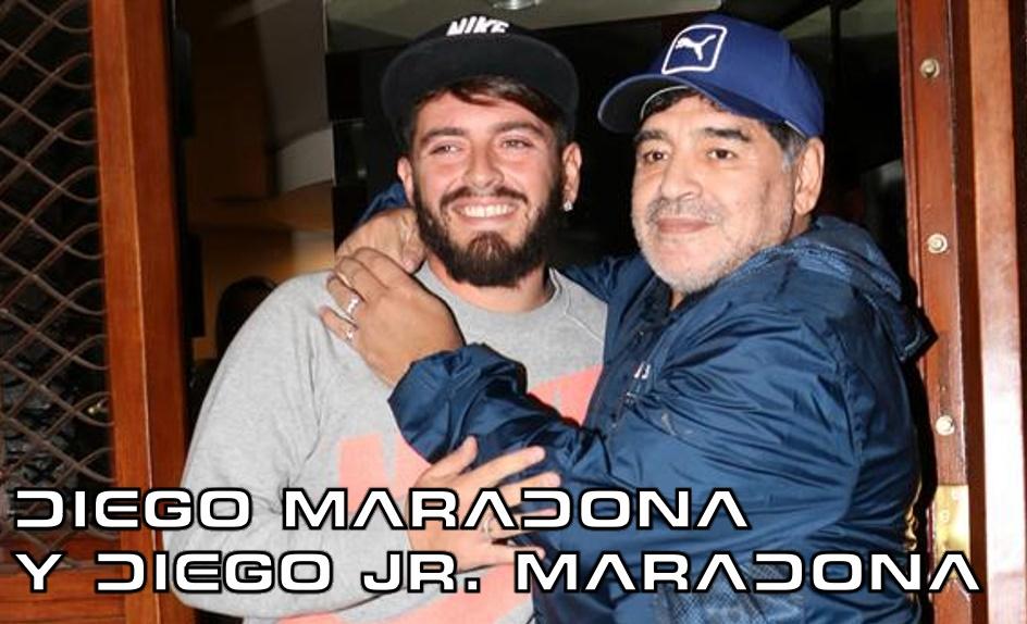 DIEGO MARADONA Y DIEGO JR.